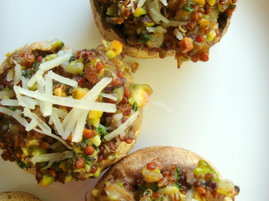 Stuffed Mushrooms with Quinoa