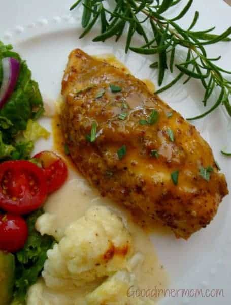 Sweet Mustard Chicken. One of the best baked chicken recipes, full of flavor and super simple!