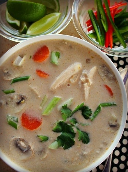 Thai Chicken Soup in the Slow Cooker