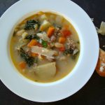 Sausage, Beans and Kale Soup