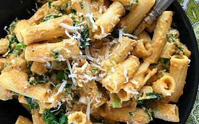Pumpkin Alfredo Sauce with Kale and Pasta