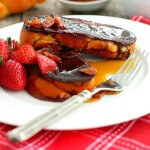 Chocolate French Toast with Candied Bacon