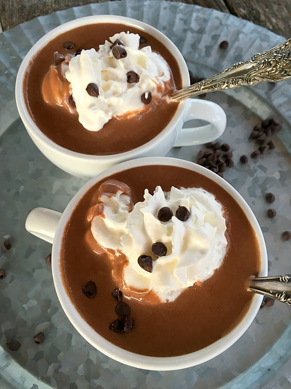 Hot Chocolate in the Slow Cooker is the easiest but the BEST homemade hot chocolate you'll ever make.