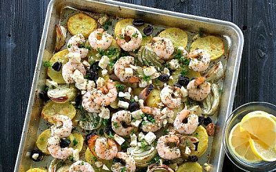 Mediterranean Shrimp Dinner – One Pan Recipe