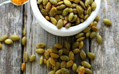 Turmeric Roasted Pumpkin Seeds