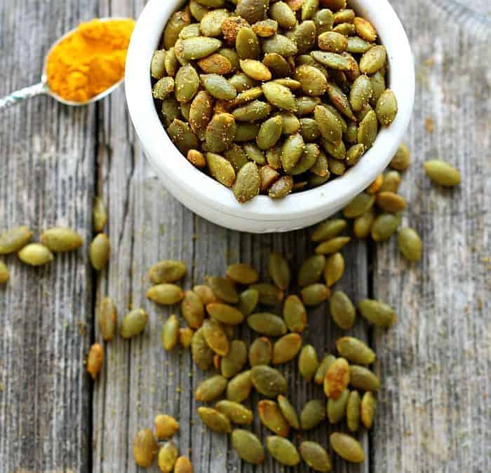 Turmeric Roasted Pumpkin Seeds