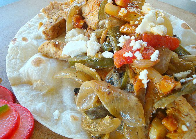 Best Chicken Fajitas with Raja con Crema