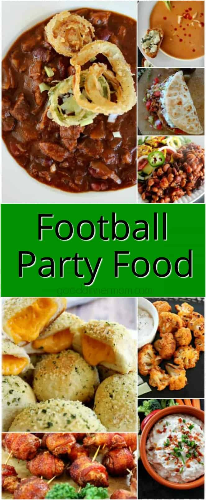 Whether you're serving up appetizers, the main meal or both at your next Football party, try some of my best Football food recipes that are sure to please. #easyrecipes #footballfood