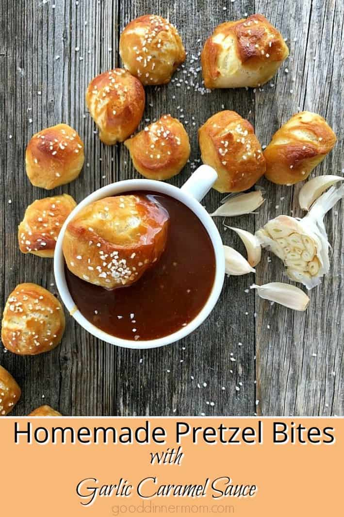 homemade pretzel bites pinterest pin
