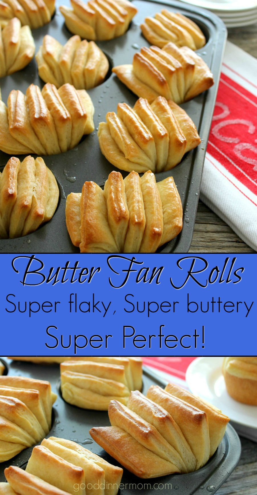 Butter Fan Rolls are easy to make with these step by step instructions and illustrations. Flaky, buttery, and tender. And beautiful.