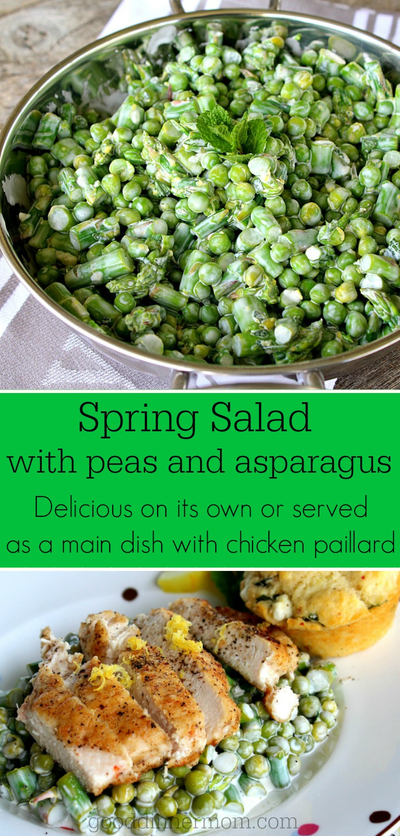 Tossed with fresh mint, lemon zest, garlic, parsley, mayo and lemon juice, this salad is light and delicious.