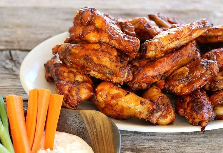 Instant Pot Easy Chicken Wings {BBQ or Buffalo Style}