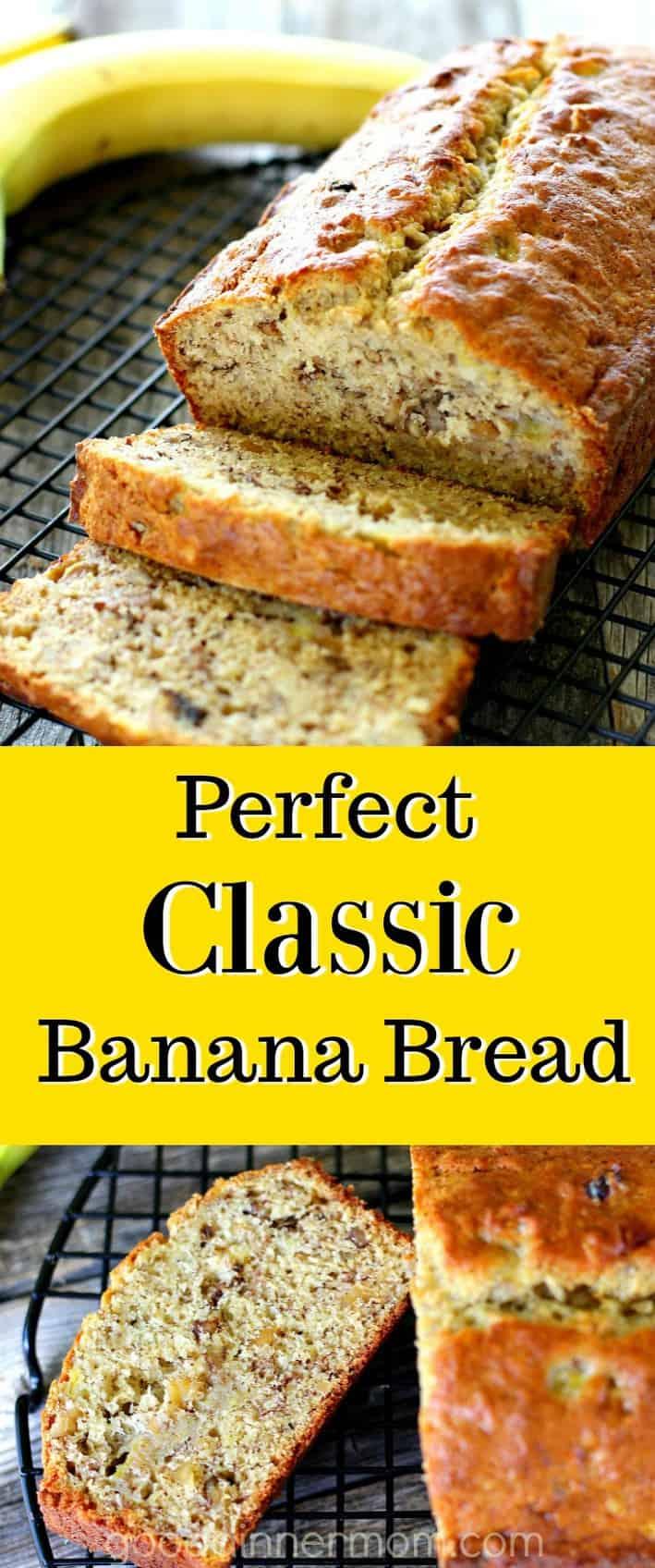sliced banana bread pinterest pin