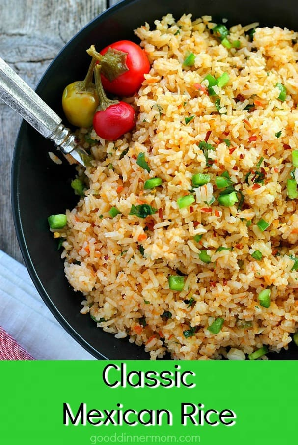 Classic Mexican Rice is traditional and flavorful. Perfect for any Mexican menu, the flavors get even better over time if you want to make it in advance but easy enough to make anytime. #mexicanrice #rice