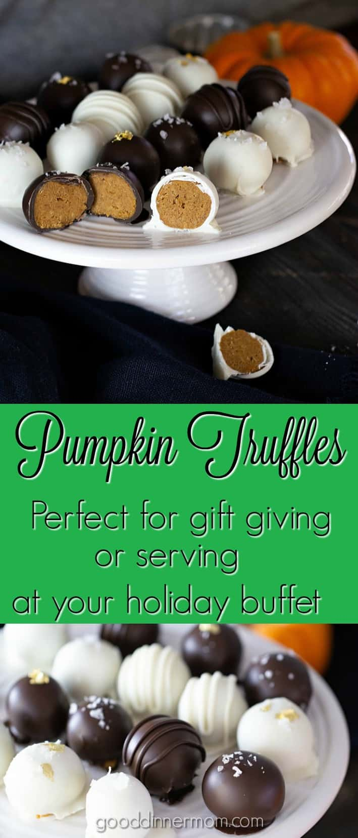 Pumpkin Truffles are easy but fancy. Will satisfy any chocolate and pumpkin pie craving. #pumpkinpie #truffles