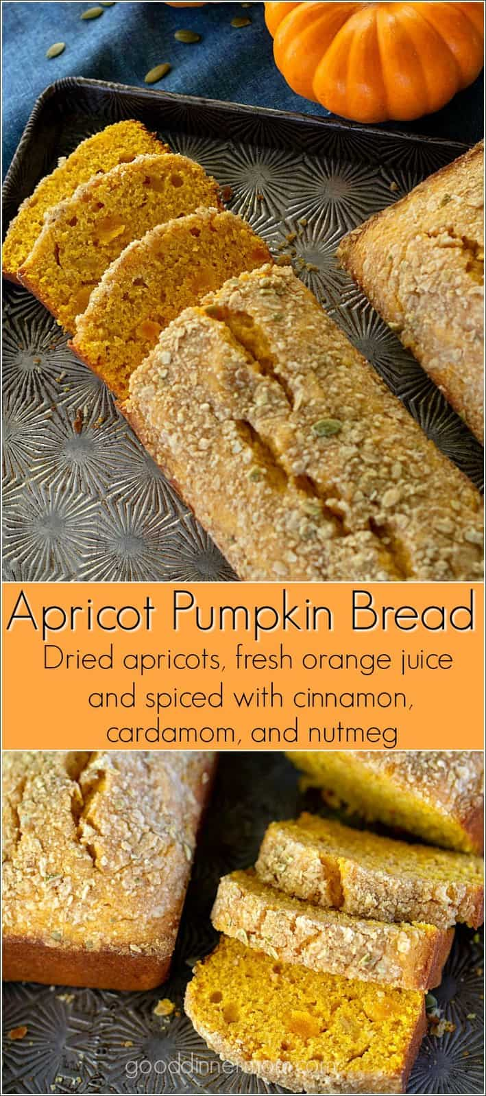 Moist, delicious, fresh, Apricot Pumpkin Bread is like no other pumpkin bread recipe you've had. #pumpkin #quickbread