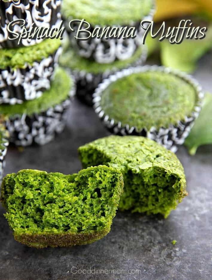 Spinach Banana Muffins