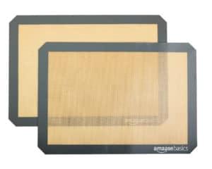 2 silicone baking mats