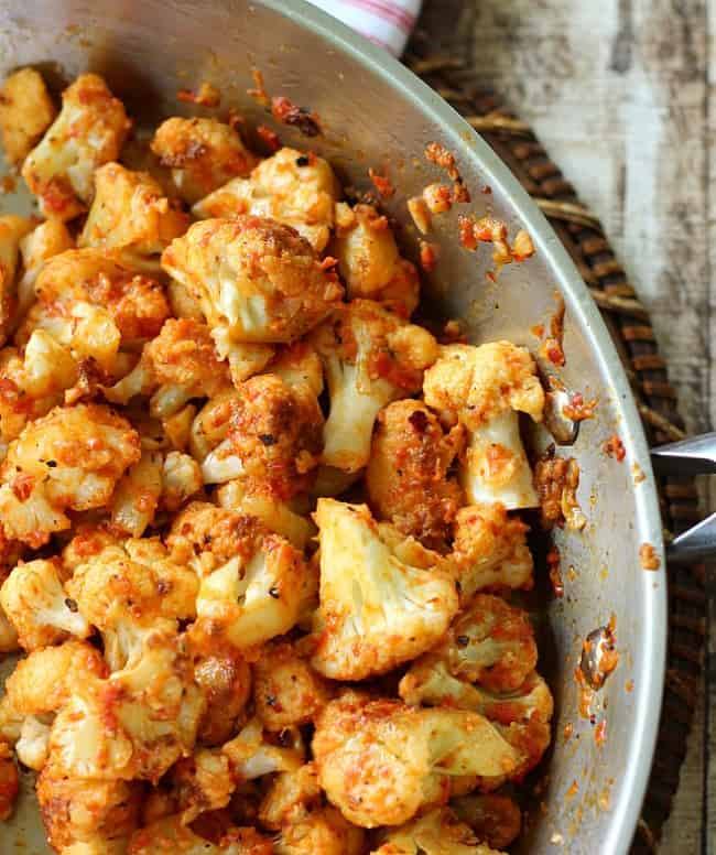 Cauliflower with Roasted Red Peppers