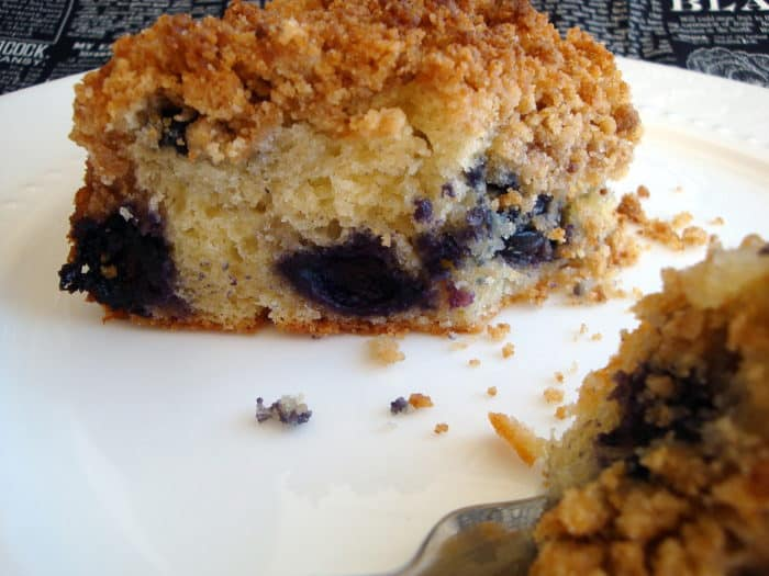 Blueberry Crumb Cake with Sour Cream
