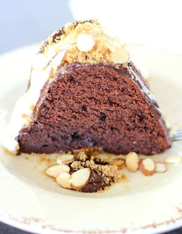 Chocolate S'mores Bundt Cake