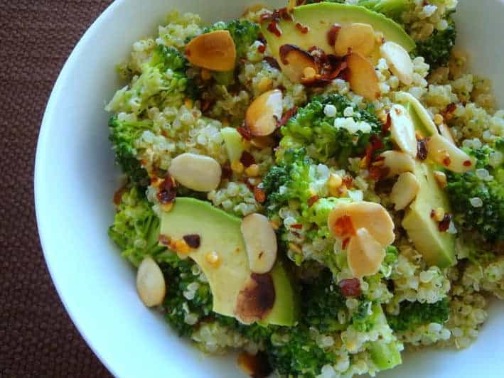 Quinoa with Brocolli Pesto
