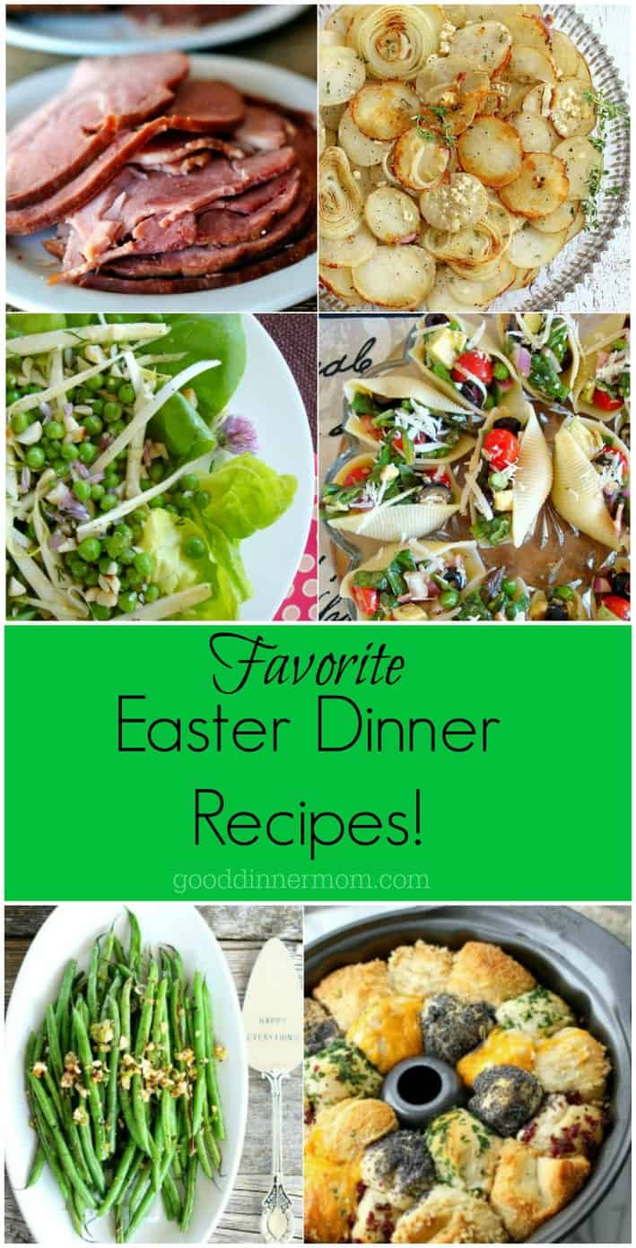 Here's a little collection of some of our favorite Easter Dinner recipes. #easterdinner #recipes #ham #dinnerrolls