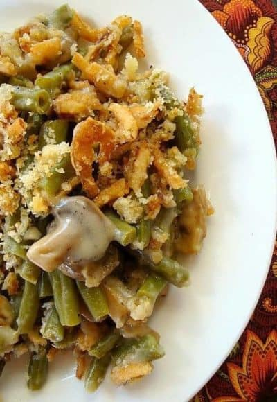 Make Ahead Green Bean Casserole is traditional and tastes amazing without the condensed soup. Make this fresher version ahead of the big day and freeze.