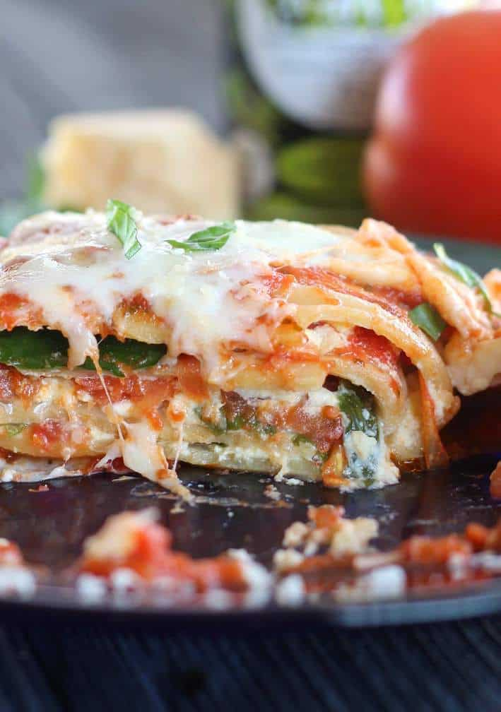 Caprese Lasagna Roll Ups offer fresh, authentic lasagna flavor in a fraction of the time it takes to create a tradtional lasagna.