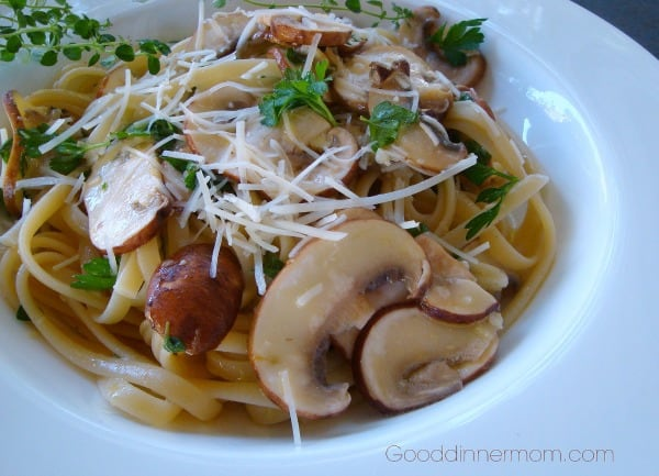 Mushroom Linguine with Lemon, Garlic, and Thyme