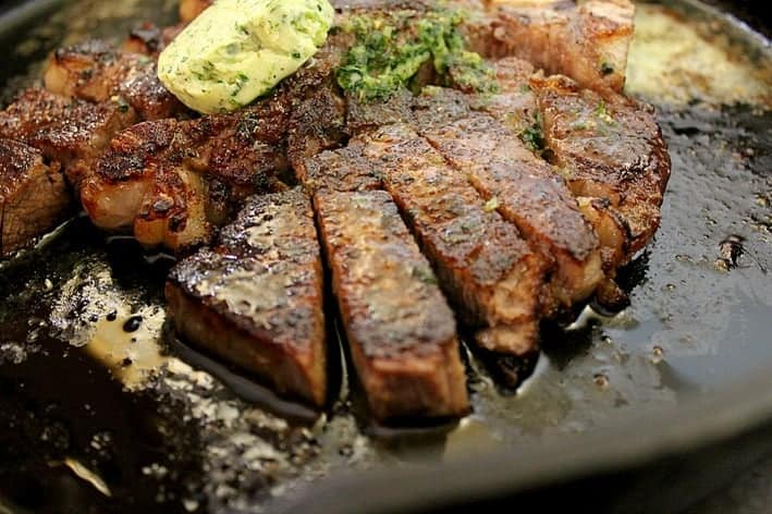 Perfect Porterhouse Steak with Parsley Shallot Butter