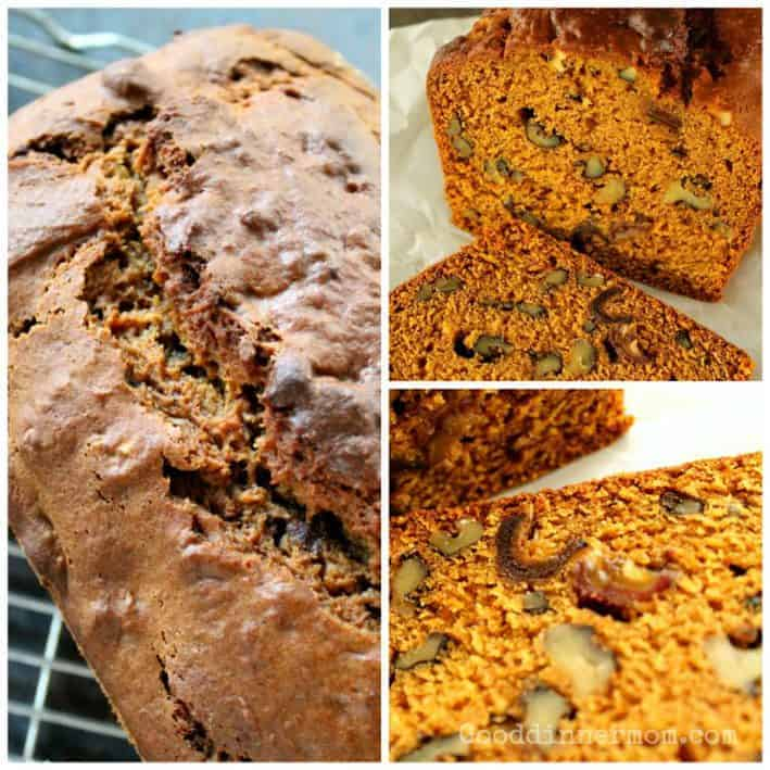 Pumpkin Walnut Bread with Dates