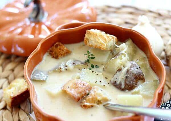 Roasted Garlic Soup with Parmesan Cheese2