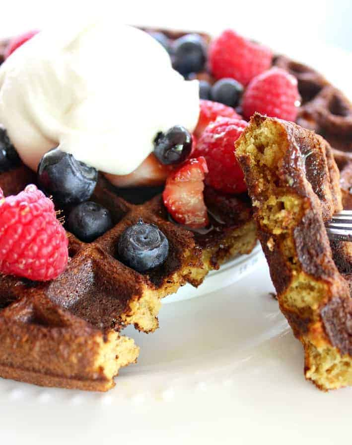 The Best Gluten Free Waffles. Made with almond flour and other easy ingredients for the tastiest waffles. Period.