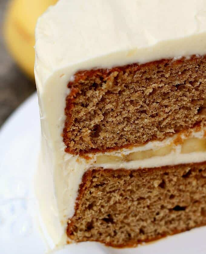 Delicious any time of year, the best Banana Cake recipe is lighter than banana bread and is fabulous with the best cream cheese frosting.