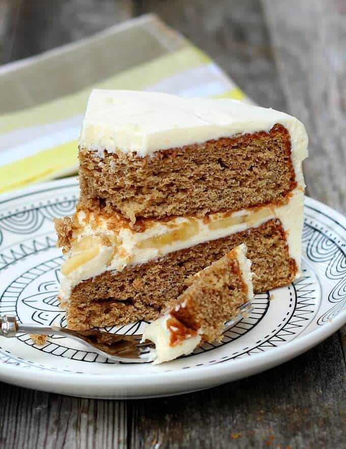 Delicious any time of year, Banana Cake is lighter than banana bread and is fabulous with the best cream cheese frosting.