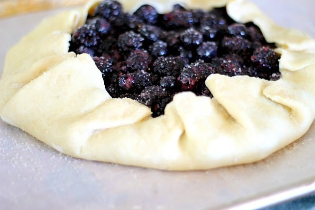 berry galette just before baking