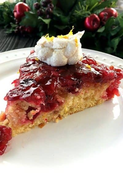 Cranberry Upside Down Cake with Ricot