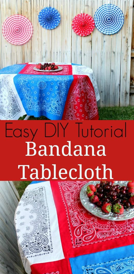 Easy bandana tablecloth tutorial