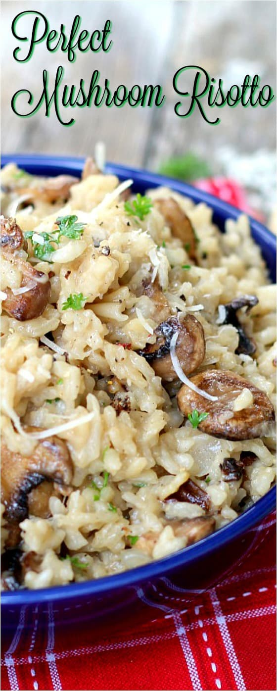 Perfect Mushroom Risotto with vegan option. This is THE recipe. Just check out the comments.#risotto #risottotutorial #meatlessmaindish #vegan
